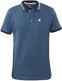 Neue Männer Kangol Designer 3D Hexeffekt Polo Tipped Polo Sommer T-Shirt Top
