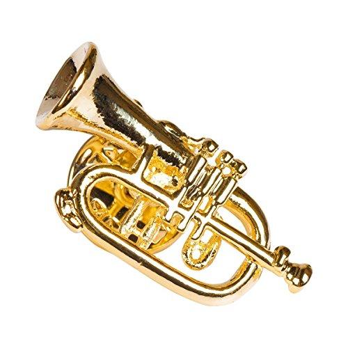 Anstecker Flügelhorn - Schönes Geschenk für Musiker mit Geschenkverpackung