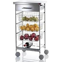 Amazon.it: carrello cucina acciaio - Don hierro