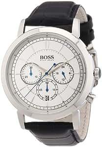 Hugo Boss Herren-Armbanduhr XL Chronograph Quarz Leder 1512779
