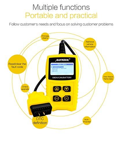Auto Codeleser CS330 Scan für OBDII / EOBD / CAN Automotive Scanner Auto OBD2 Diagnose Tool Unterstützung Analysieren Autobatterie Spannung Genau - 7