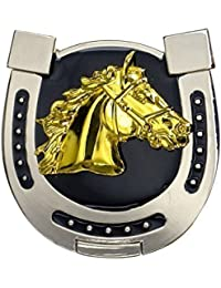 Forma de herradura-hebilla Golden Horse, 3D-cabeza de caballo, Western, hebilla para cinturón