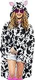 erdbeerloft - Unisex Damen Herren Kuh Kostüm Regenponcho, One Size, schwarz-weiß