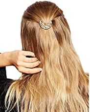 Ginie'sWishKart Gold Metal Hollow Moon Hairpin/Hair Clip For Women And Girls