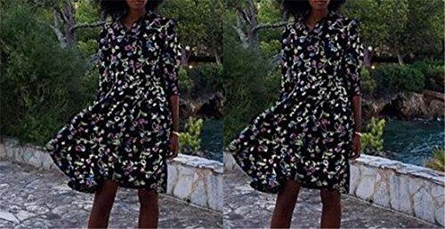 Qiyun–Robe pour femme Noir