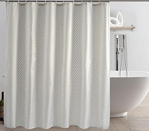 Rideau de douche imperméable Mildew-résistant 100% tissu de polyester, 180 * 200cm, décoration de salle de bain à la mode