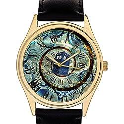 SURREALIST ORIGINAL TIME-WARP ART DOCTOR WHO TARDIS COLLECTIBLE 40 mm WRIST WATCH