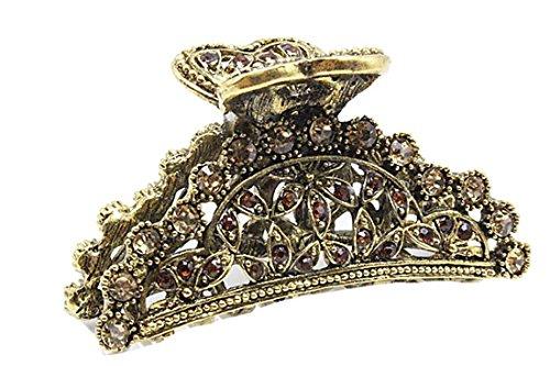Damen Vintage Look Metall Schablone 5cm Haar Haarkralle Blume
