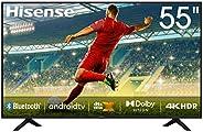 "Hisense 55"" 4k Full UHD Smart TV Android 9.0 HDR Bluetooth 5.0 DTS Sound Google apps (55B7206UW)"
