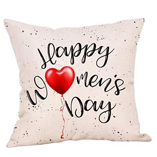 OPAKY Muttertag Druck Baumwolle Leinen Kissenbezug Kissenbezug Sofa Home Decor