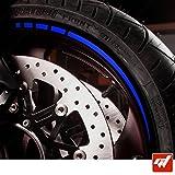 GT-Stickers KIT Liserets de Jante Moto - Bleu Royal - Liseret Autocollant Compatible avec Les Jantes de Ces Marque (Kawasaki,Yamaha,Honda,Suzuki,Ducati, KTM et Toutes Les Autres)