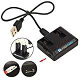 HOBBYTIGER 2-in-1 USB Battery Charger for Hubsan X4 Cam Plus H107C+ H107D+ Plus FPV Drone Quadcopter External Charging Spare Parts