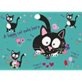 Cartoon Cat - Happy Cat - Standard - Futtermatte