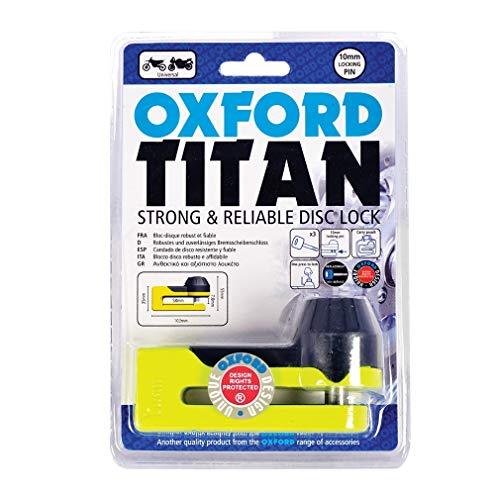 Oxford OF51Bloccadisco Titan con astuccio, 2005, giallo