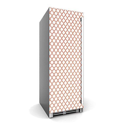 creatisto Kühlschrankfolien Kühlschrank 60x150 cm | Dekorfolie Kühlschrank-Sticker Folie Tapete abwaschbar Kühlschrank renovieren Einbauküche | Muster Ornament Retro Pattern - Rot