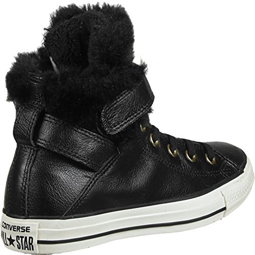 Converse All Star Brea Leather Fur Hi W Scarpa Nero