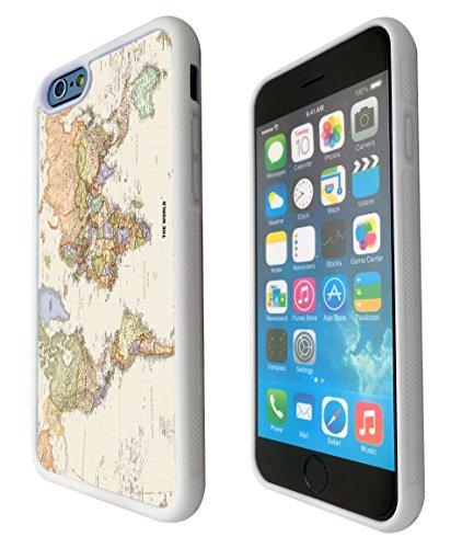 iPhone 5C Cool Fun World Map The World Look 178Design Fashion Trend Coque en silicone gel RUBBER Case Back Cover de métal et plastique