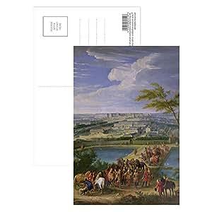 Art247 - The Town and Chateau of Versailles from the.. - Carte postale (paquet de 8) - 15,2 x 10,2 cm - Qualité supérieure - Dimensions standards
