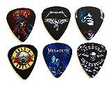 #7: Heavy Metal/Rock Band Guitar Picks, Set of 6