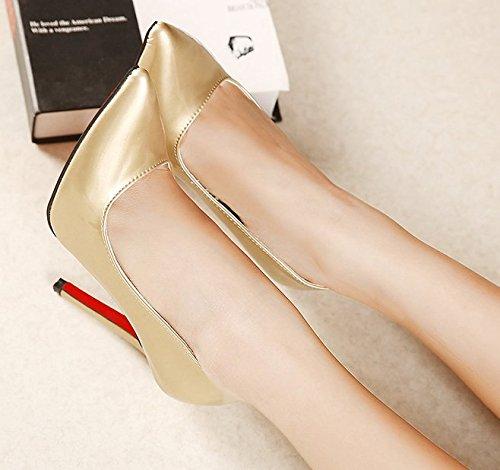 GS~LY Cadeau de fête des mères Bouche peu profonde a souligné avec une grande taille High heels Black