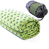 Non-Slip Yoga Towel Mat with Bag, 63 x 180cm, Available in Four Colours (Green)