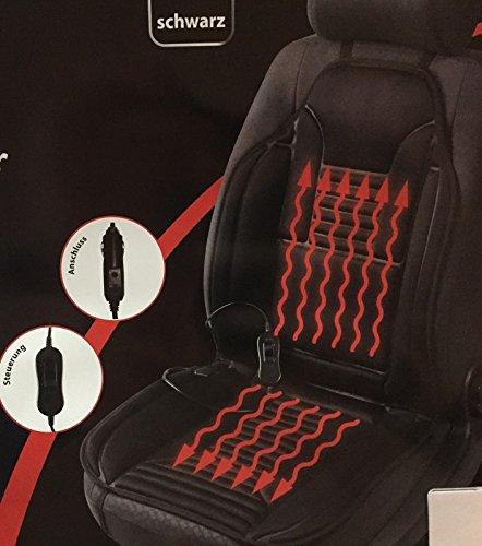 beheizbarer Sitzaufleger Sitzheizung Sitzheizkissen grau o. schwarz (1x SCHWARZ)