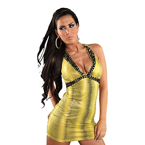 In - Stylefashion - Robe - Imprimé animal - Sans Manche - Femme Jaune - Jaune