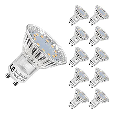 LE MR16 GU10 LED Light Bulbs, 35W Halogen Bulbs Equivalent, 250lm, 3W, Warm White, 2700K, 120¡ã Beam Angle, Recessed Lighting, Track Lighting by Lighting EVER