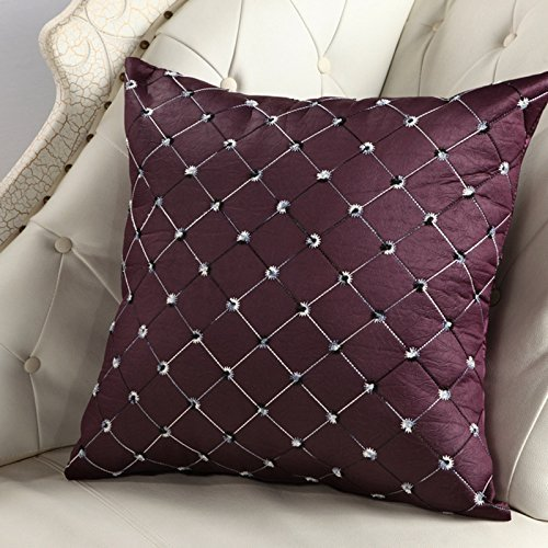 Lanlan Kissen Sofa Bett Decor Plaids Bunte Kissen Fall Rücken der Stuhl, violett (Seide Taufe Kleid Taufe)