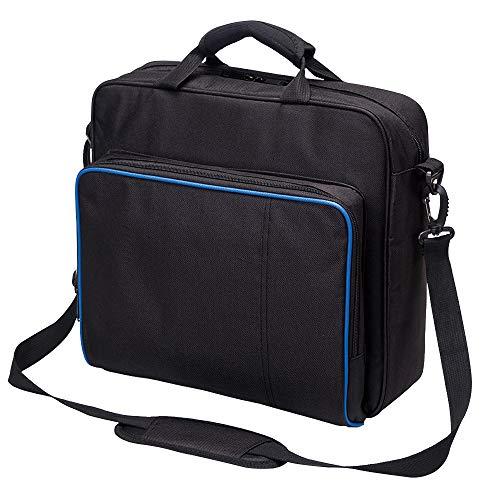Neue Reise Lagerung Tragetasche Schutz Schulter Handtasche für PlayStation PS4, PS4 Pro und PS4 Slim System Konsole Tragetasche und Zubehör # 81050 (schwarz-groß)