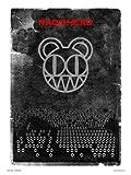 onthewall Radiohead Pop Art Print Poster von Perücke (048)