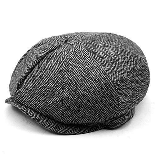 KFEK Herbst und Winter warme achteckige Hut Zeitung Hut Berley Hut Koreanische Version der Flut Kappe A25