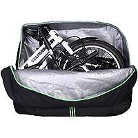 RockBros - Bolsa de transporte con mochila para bicicleta plegable, ideal para viajar en avión o en coche, apta para bicicletas con ruedas de un tamaño comprendido entre 14 y 20pulgadas