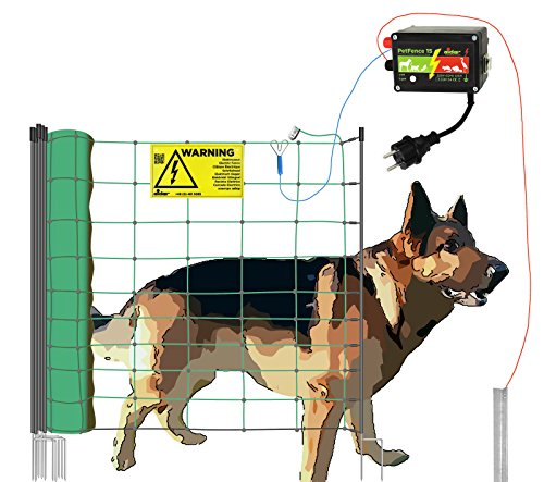 *Hundezaun aufstellfertig ( 50m ) beliebig erweiterbar – Weidezaun für Hunde*