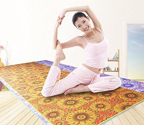 HZJ Yoga Starter Kit-Dauerhafte Yoga-Tuch Eco Friendly Rutschfeste Yoga-Matte, NatüRliche Komfortable Yoga Und Pilates Mikrofaser Matte, Sport Komfortable, Orange, 85 * 185cm -