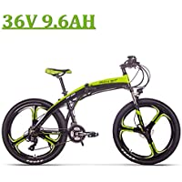 eBike_RICHBIT Nouveau Vélo Électrique Pliant 26 '', RLH-880, 250 Watt, Vitesses Shimano 21 Vitesses TX35, Vélo électrique 36V 9.6AH, Freins à Disque hydrauliques, Vélo à Suspension intégrale