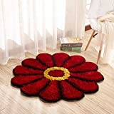 #8: SRHandloom Round Colorful Sunflower Area Rug Mats Bedroom Living Room Round mats Computer Chair Mat