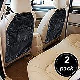 AUTO-VOX 2-juego de protectores de asiento de coche para diseño de organizar bolsillos enmarana con | Ideal para coche, W, automático y accesorios asiento de seguridad para niños