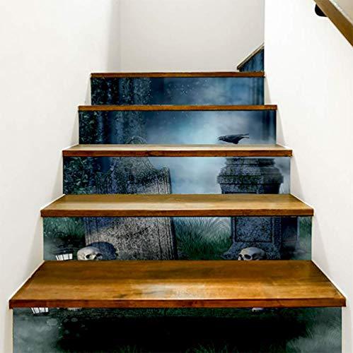 DFGTHRTHRT 3D Simulation Treppenaufkleber entfernbare Wasserdichte Wandaufkleber Schlafzimmer Wohnzimmer DIY Tapete Wandabziehbilder (Color : WLT015, Size : OneSize)