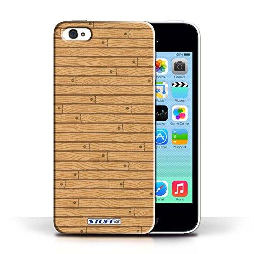 KOBALT® Hülle Case für Apple iPhone 5C   Türkis Entwurf   Holz-Muster Kollektion Holz