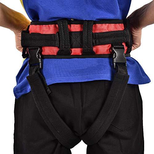51VtH53PTpL - WuLien Cinta de Transferencia - Dispositivo de arnés del cinturón de la Marcha de la grúa de Asistencia móvil para bariátrica, pediátrica, Ancianos, Terapia Ocupacional y física,L