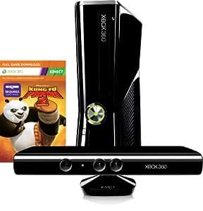 Xbox 360 - Konsole Slim 250 GB inkl. Kinect Sensor, Kung Fu Panda 2 (Download) und Kinect Adventures, schwarz-glänzend