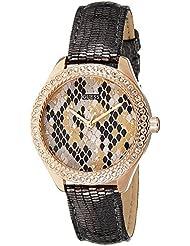 Guess Damen-Armbanduhr Analog Quarz Leder W0626L2