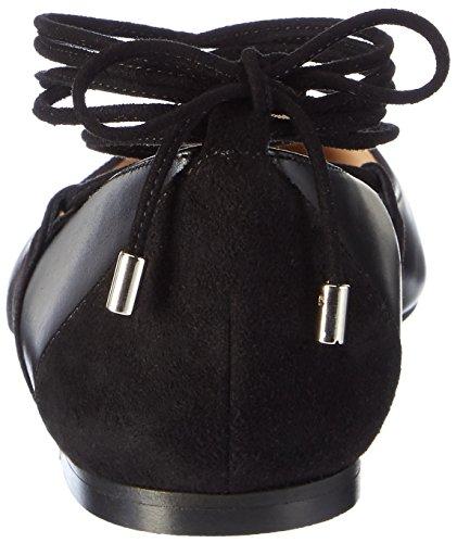 Hugo Fatima 10199298 01, Ballerine Donna Nero (Black)
