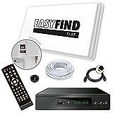 Selfsat EasyFind Digital Traveller Kit Full HD High End mobile Camping Satellitenanlage (Komplett-Set inkl. HDTV Receiver Micro M310plus)