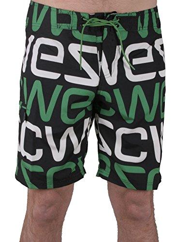 WESC -  Pantaloncini - Uomo Nero