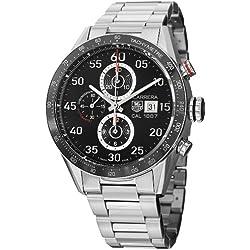 TAG Heuer Carrera - Reloj (Reloj de pulsera, Masculino, Cerámico, Acero, Negro, Acero inoxidable, Acero, Acero inoxidable)
