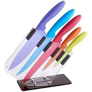 VonShef:Magnifique Set de 6 couteaux multi couleur multifonction