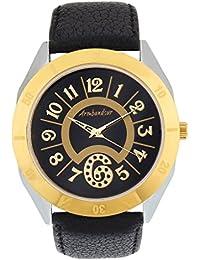 Armbandsur Analog Black dial golden & silver case round Watch-ABS0014MBG