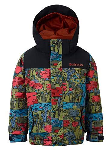 Burton Jungen Minishred Amped Snowboard Jacke, Never Ending Story/True Black, 4T 4t Jacke